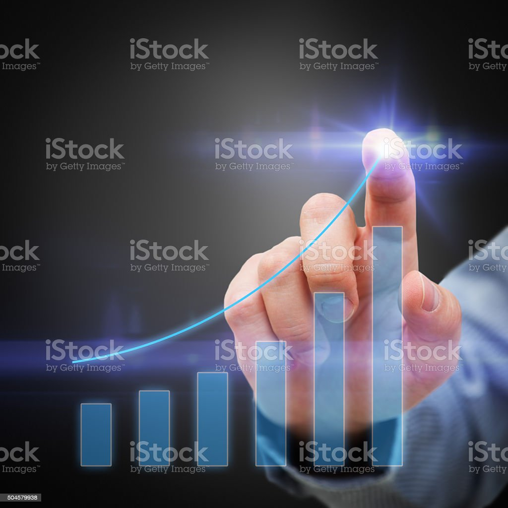 Businessman and Business Growth stock photo