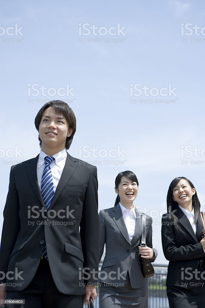 Businessman and business woman stock photo