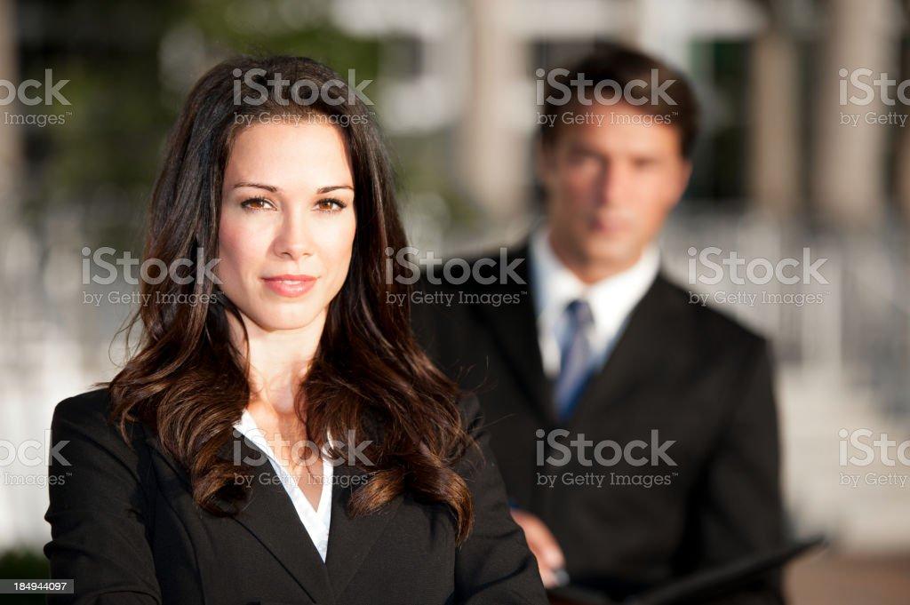 Empresário e Empresária - foto de acervo