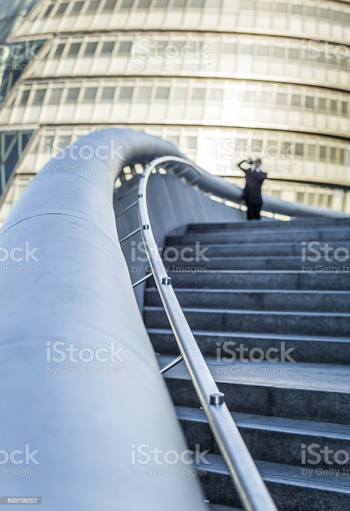 Businessman and Camera stock photo