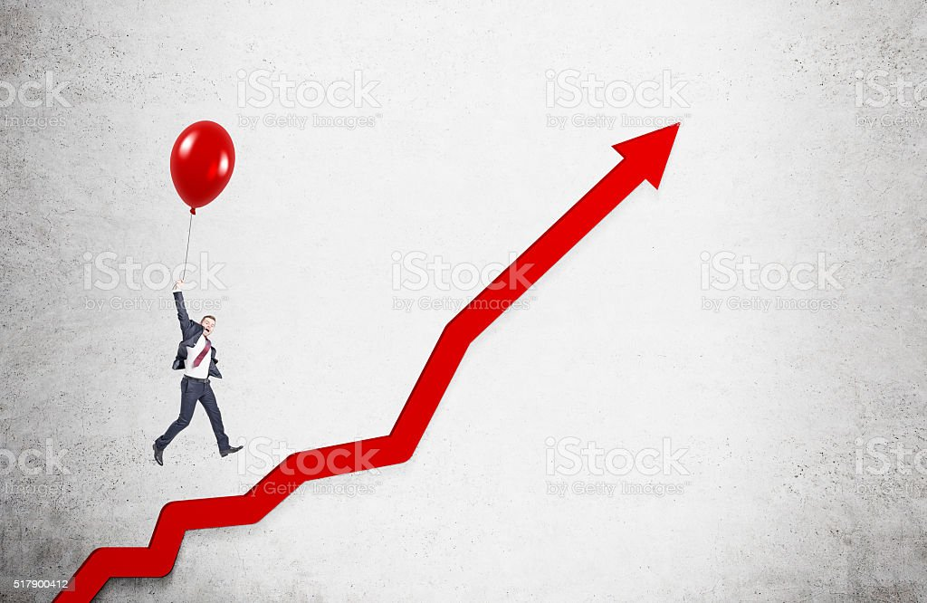 Businessman and career growth stock photo