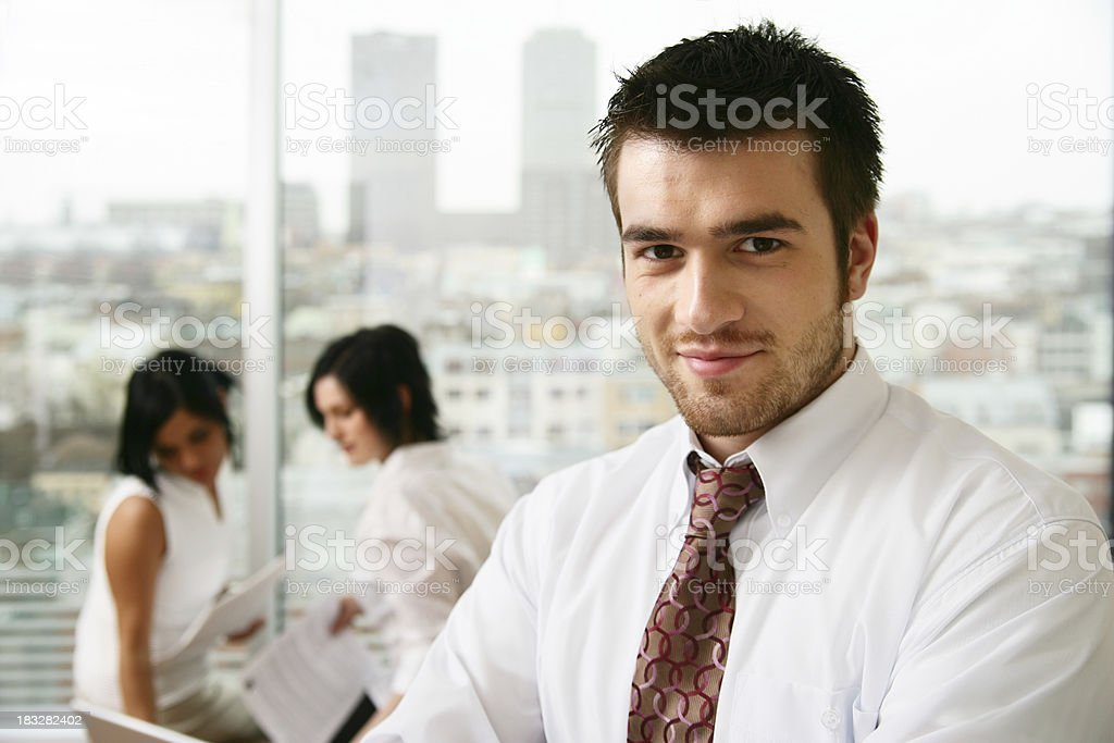 Businessman and colleagues royalty-free stock photo