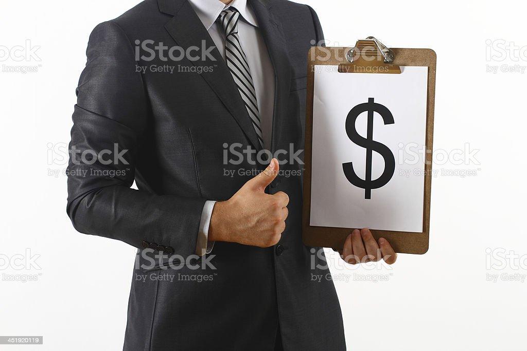 Geschäftsmann und Dollar – Foto