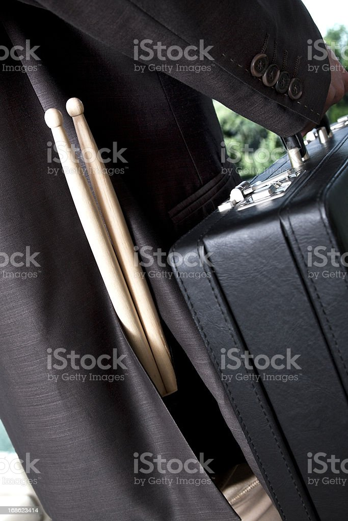 Businessman and Drummer royalty-free stock photo
