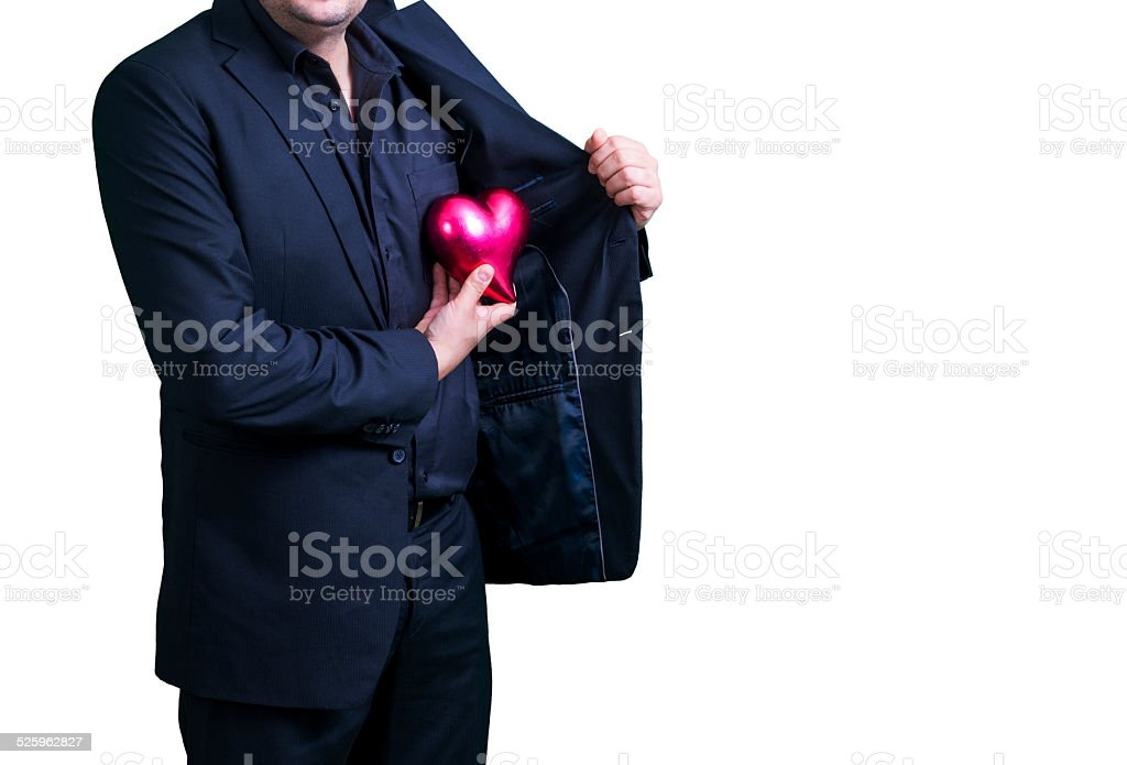 Businessman and heart stock photo