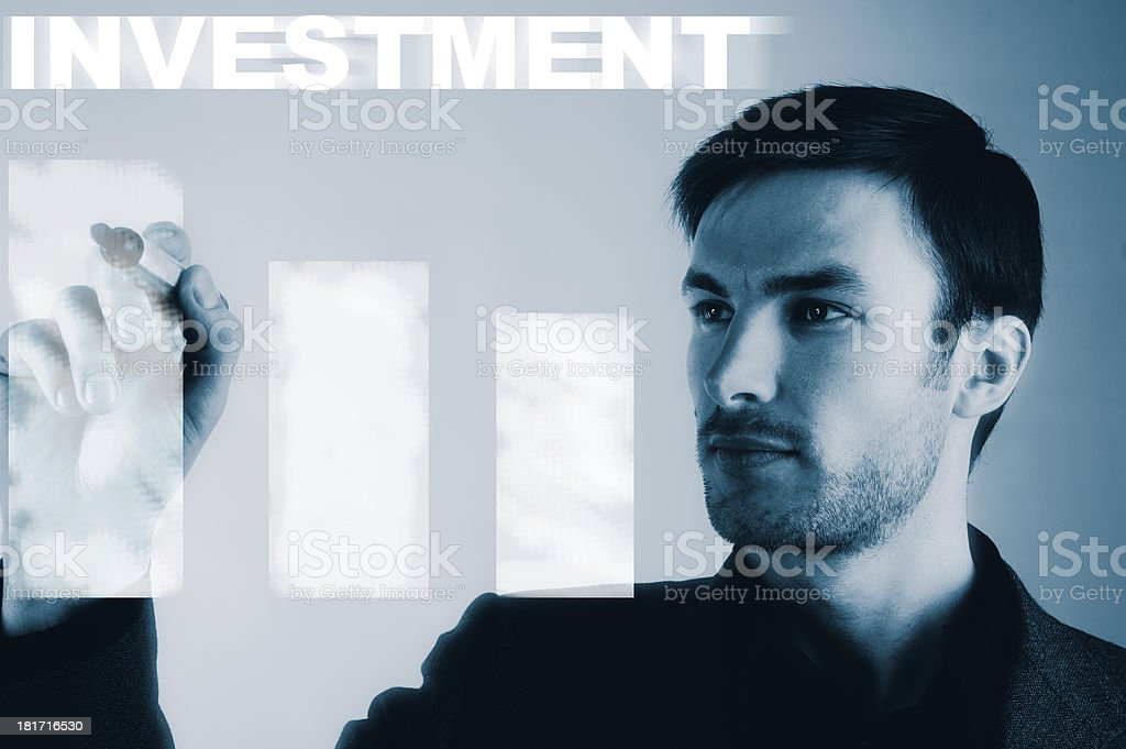 businessman and investment royalty-free stock photo