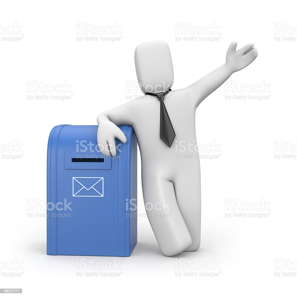 Businessman and mailbox royalty-free stock photo