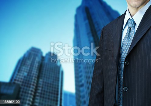 Businessman And Modern Office Building Stock Photo & More Pictures of Adult