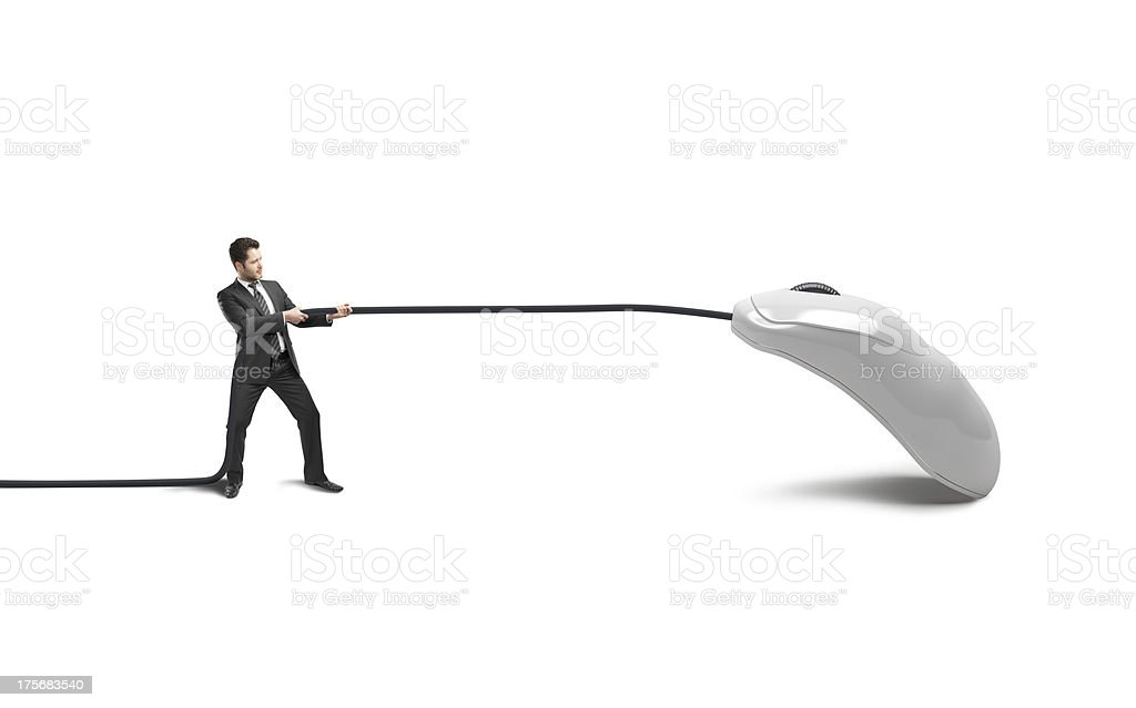 businessman and mouse stock photo