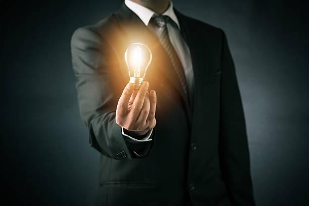 businessman and new ideas concept - erfinder der fotografie stock-fotos und bilder