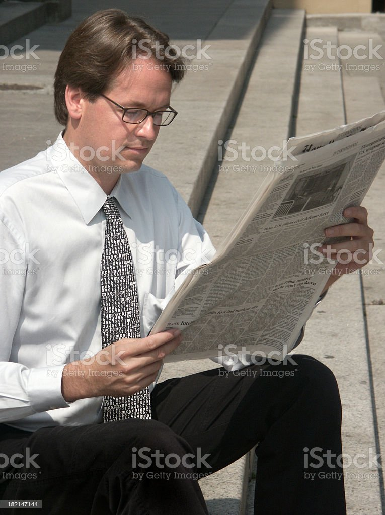 Businessman and Newspaper 04 royalty-free stock photo