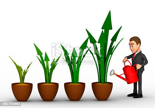 istock businessman and profit growth 482764663