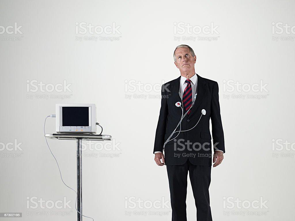 Homme d'affaires et de rythme cardiaque photo libre de droits