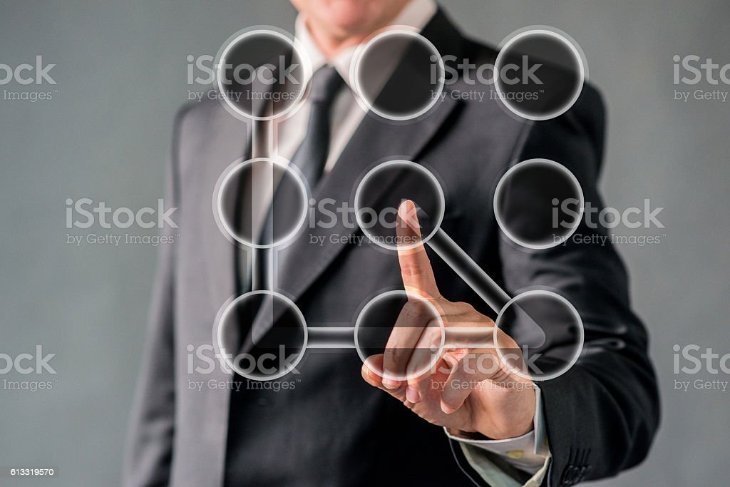 Businessman and Security Concept stock photo