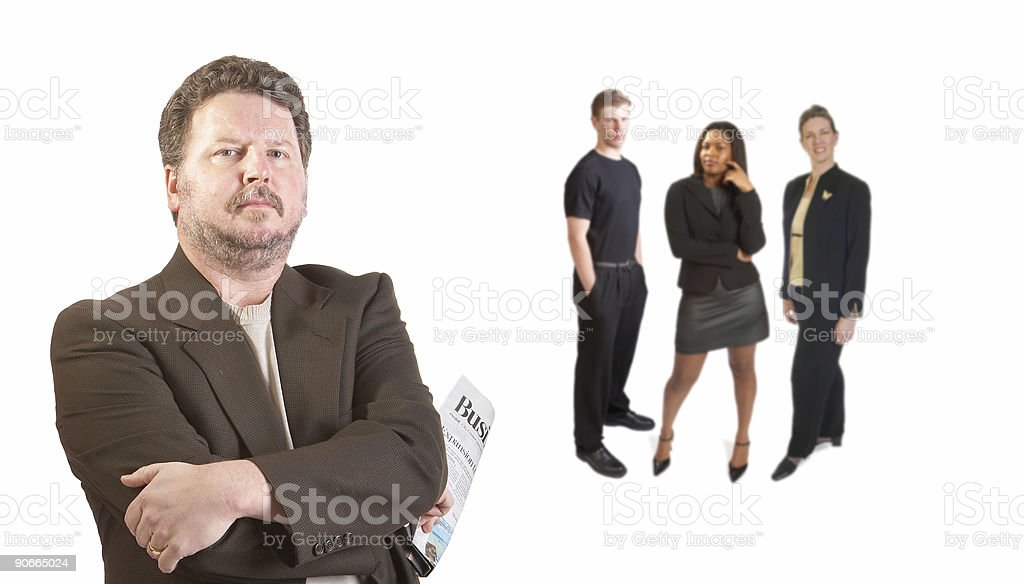 Businessman and team royalty-free stock photo