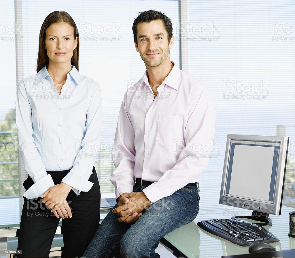 Empresário e mulher foto de stock royalty-free