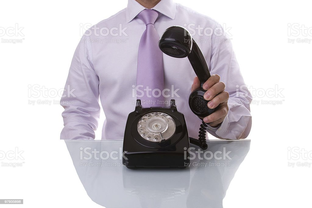 businessman answer a call royalty-free stock photo