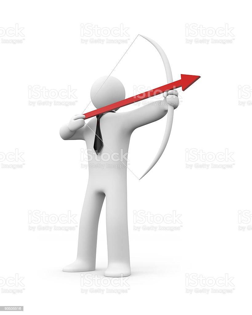 Businessman archer royalty-free stock photo