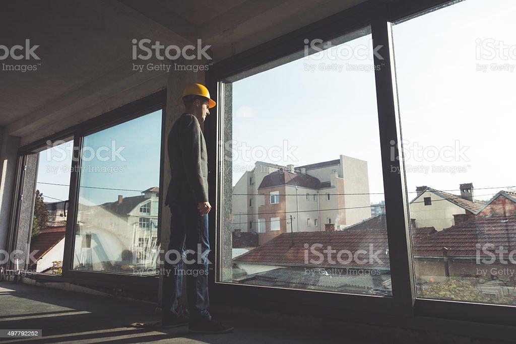 Businessman Architect Engineer stock photo