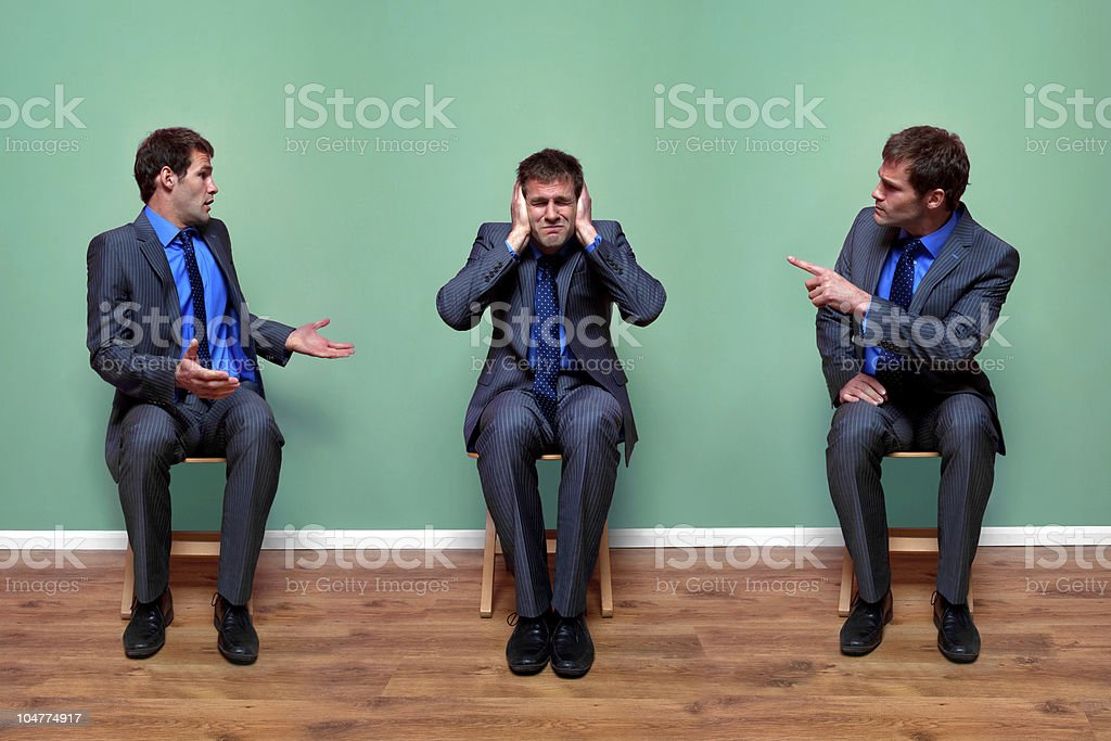Businessman argument royalty-free stock photo