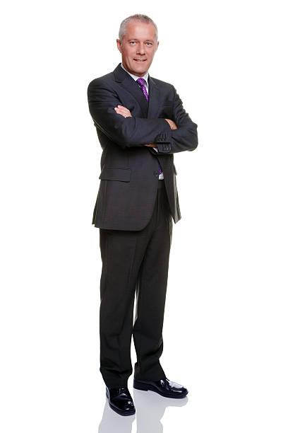 ビジネスマン腕折り返し - 腕組み スーツ ストックフォトと画像