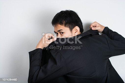 Businessman  Asia.Businessman escapes job