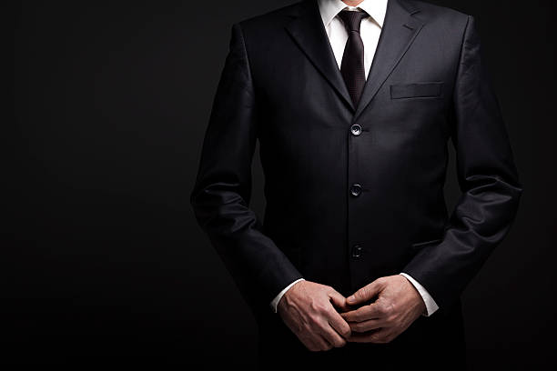Businessman At Dark stock photo