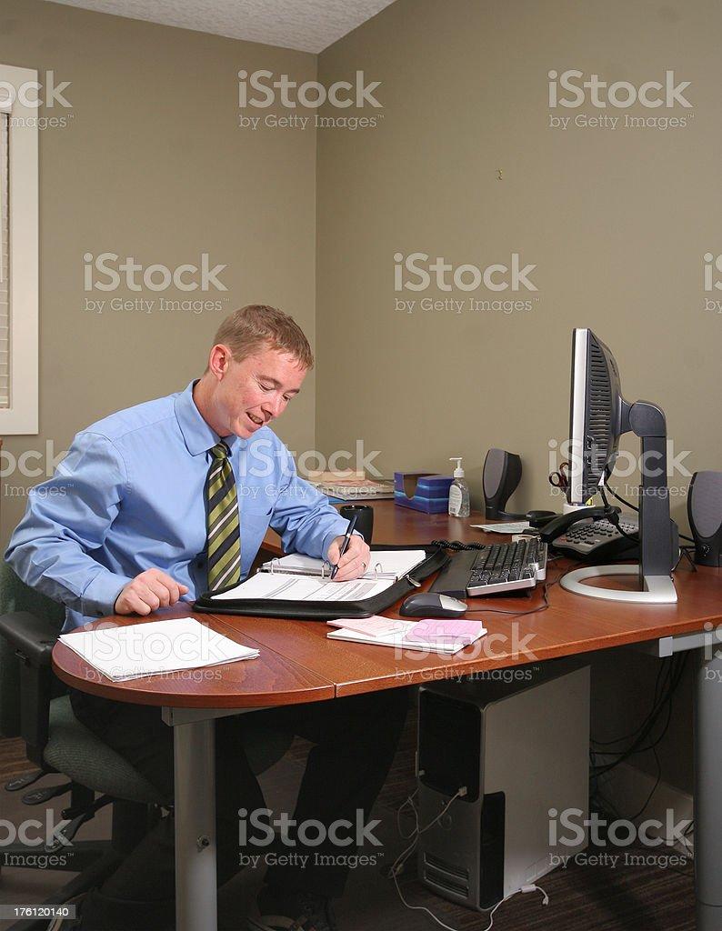 Businessman At Desk royalty-free stock photo