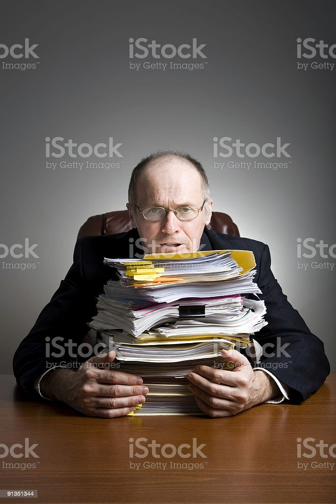 Businessman At Desk Series royalty-free stock photo