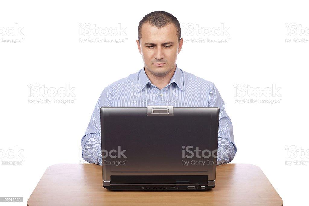 Businessman at laptop royalty-free stock photo