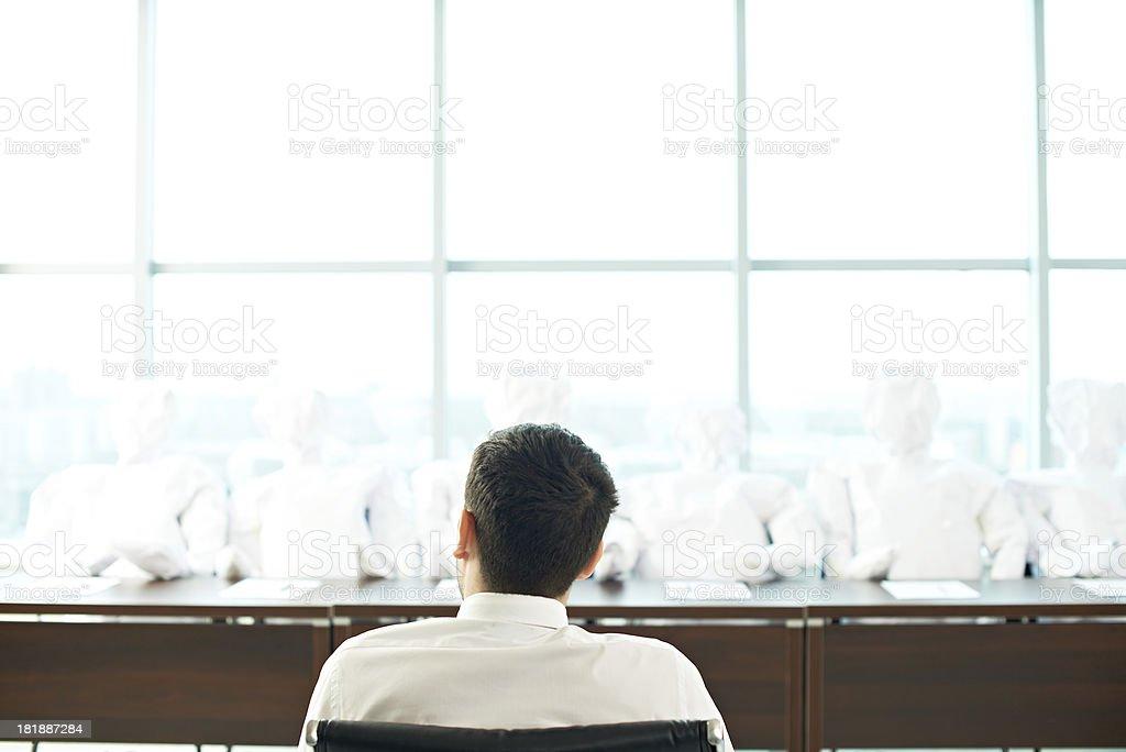 Businessman at meeting royalty-free stock photo