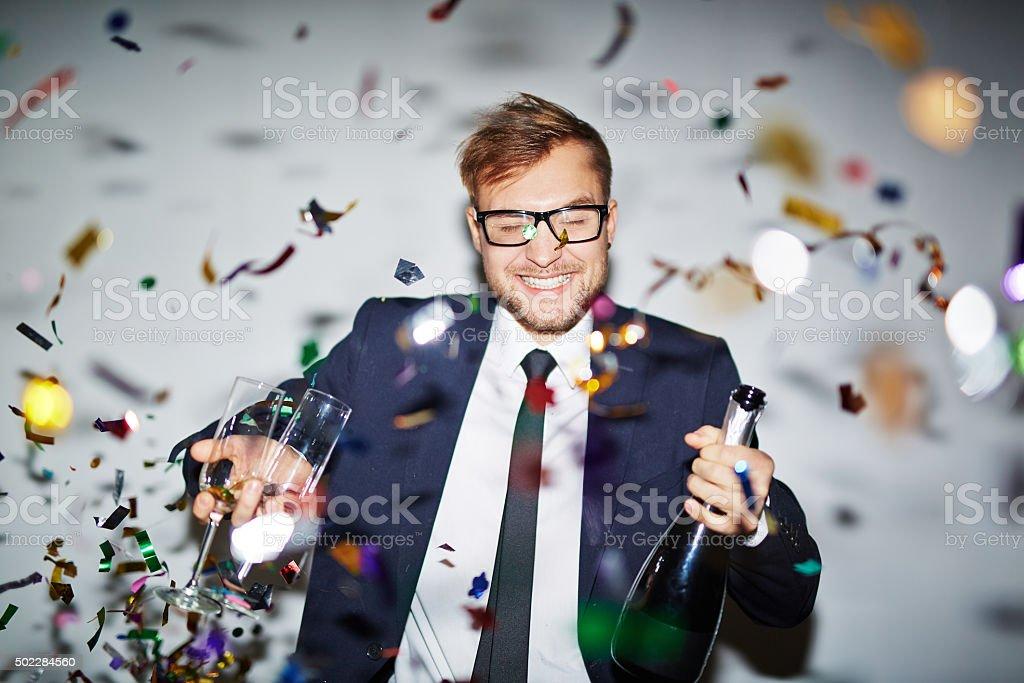 Geschäftsmann in party – Foto