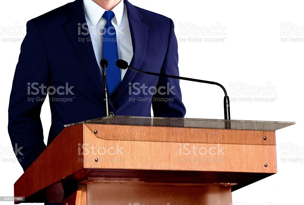 Businessman at Seminar stock photo