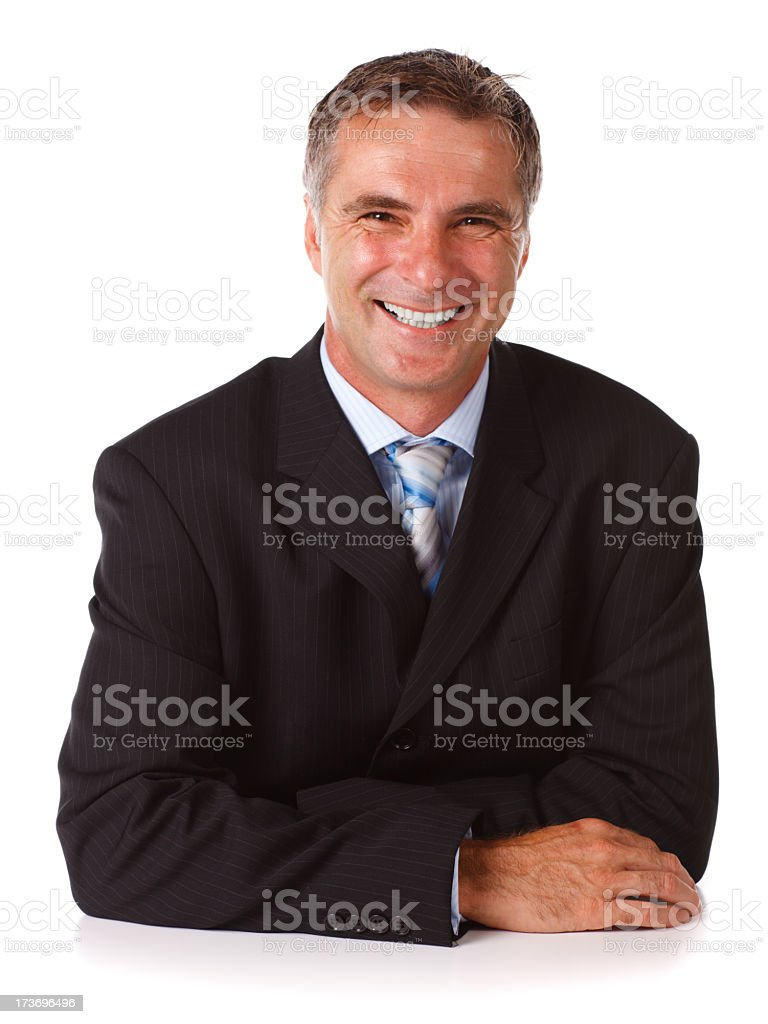 Businessman at Table royalty-free stock photo