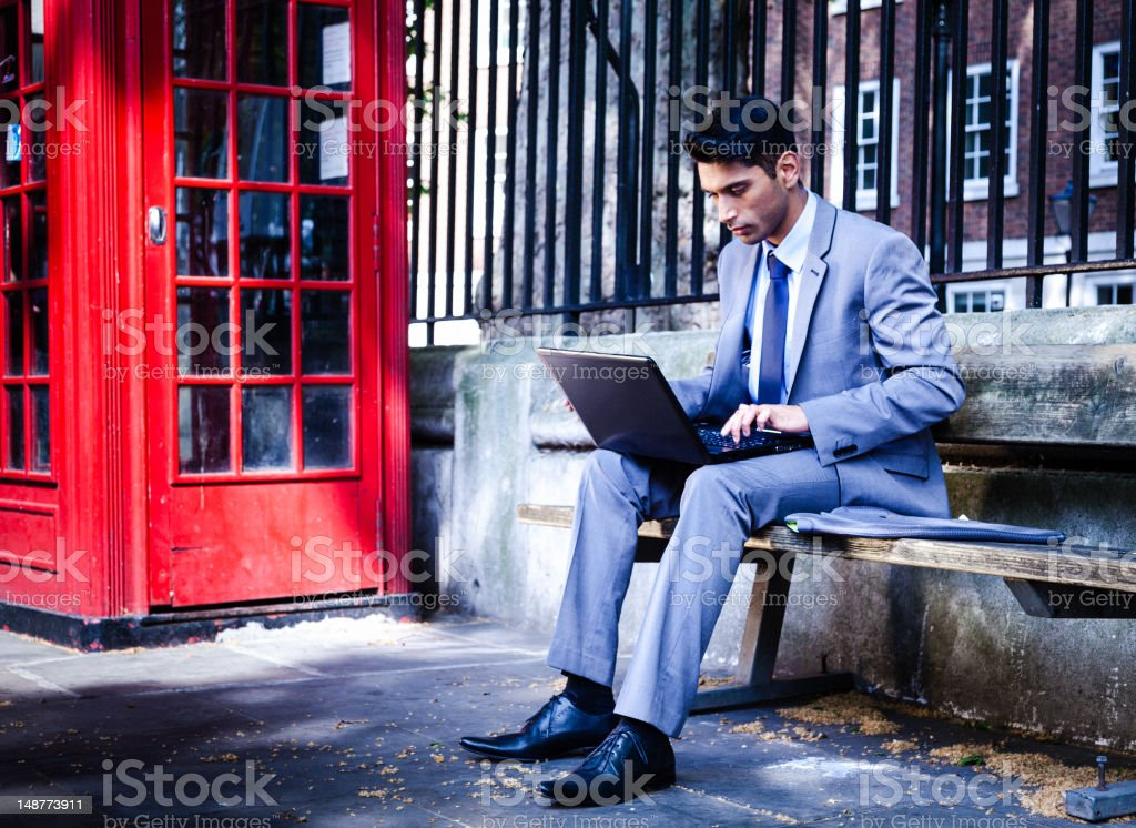 Businessman at the laptop royalty-free stock photo