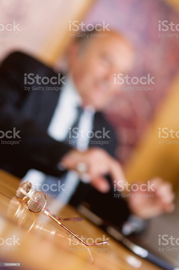 Businessman at the meeting royalty-free stock photo