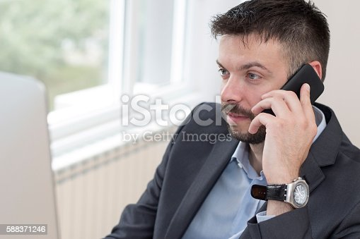 913346608 istock photo Businessman at work 588371246