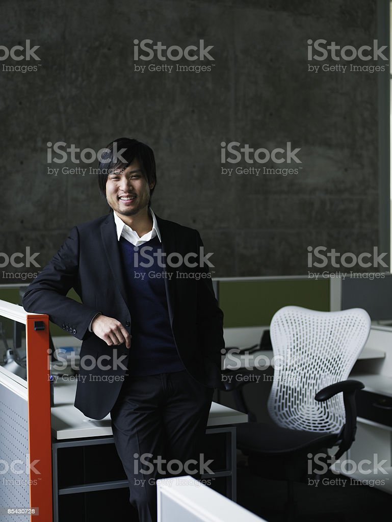 Businessman at workstation royalty-free stock photo
