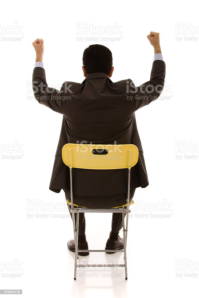 Businessman back royalty-free stock photo