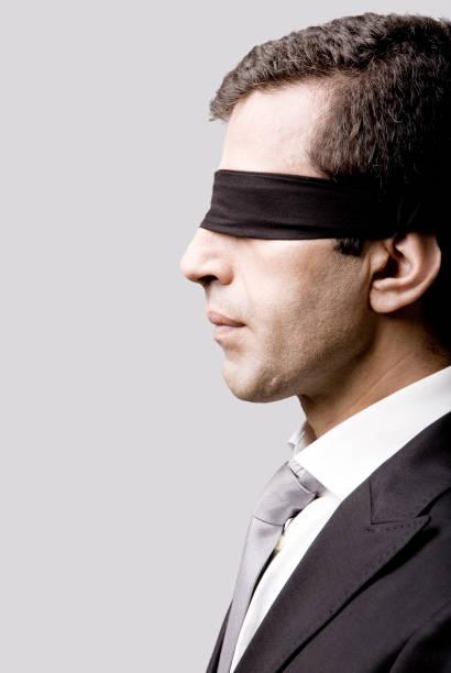 Businessman Blindfolded stock photo