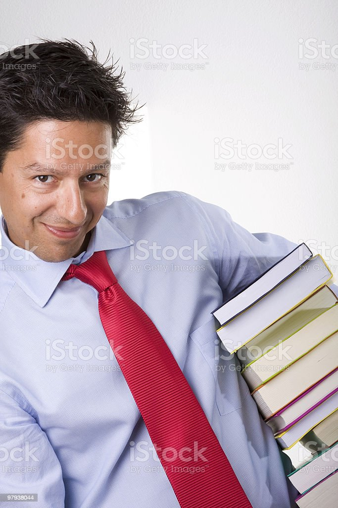 businessman books royalty-free stock photo