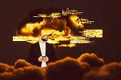 istock Businessman brainstorming, cloud computing 1055709716