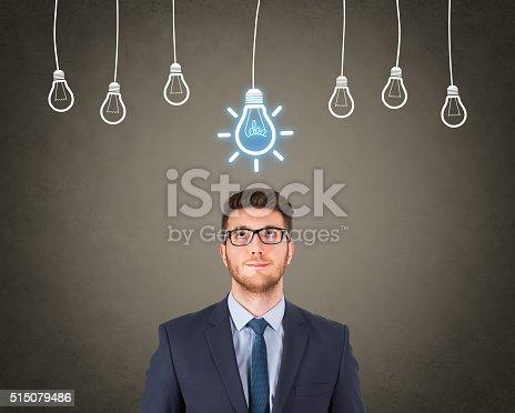 istock Businessman Bright Idea 515079486
