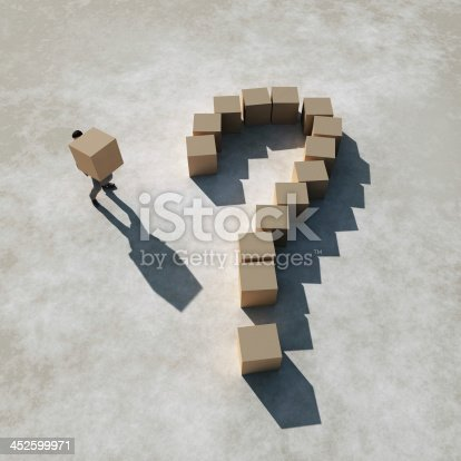 452592895 istock photo businessman builds a question 452599971