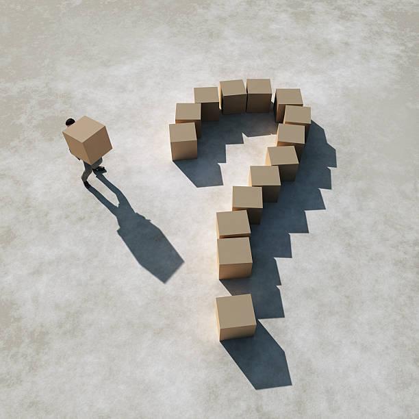 Geschäftsmann schafft eine Frage – Foto