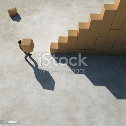 452592895 istock photo businessman builds a stairs 452598975