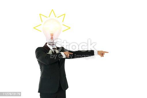 Businessman great idea