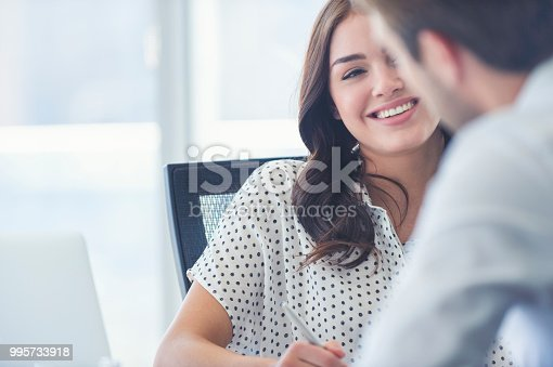 995734014istockphoto Businessman business woman working together. 995733918