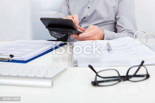 istock Businessman Calculating Finance 505844533