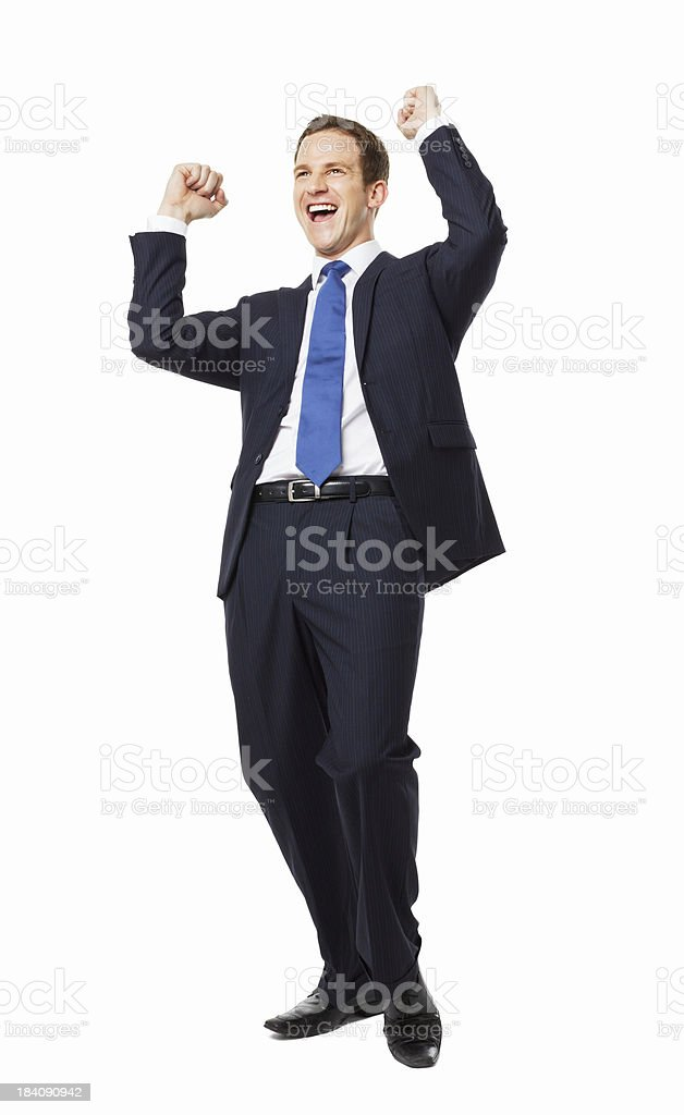 Businessman Celebrating - Isolated royalty-free stock photo